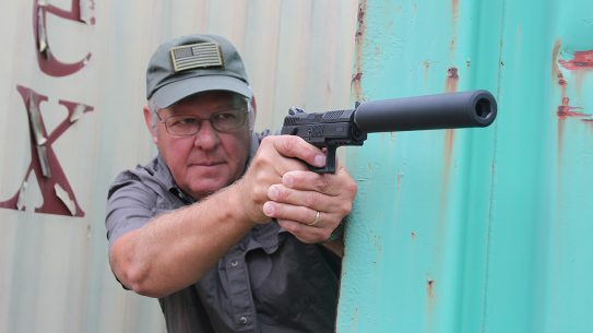 CZ P-07 Suppressor Ready pistol corner