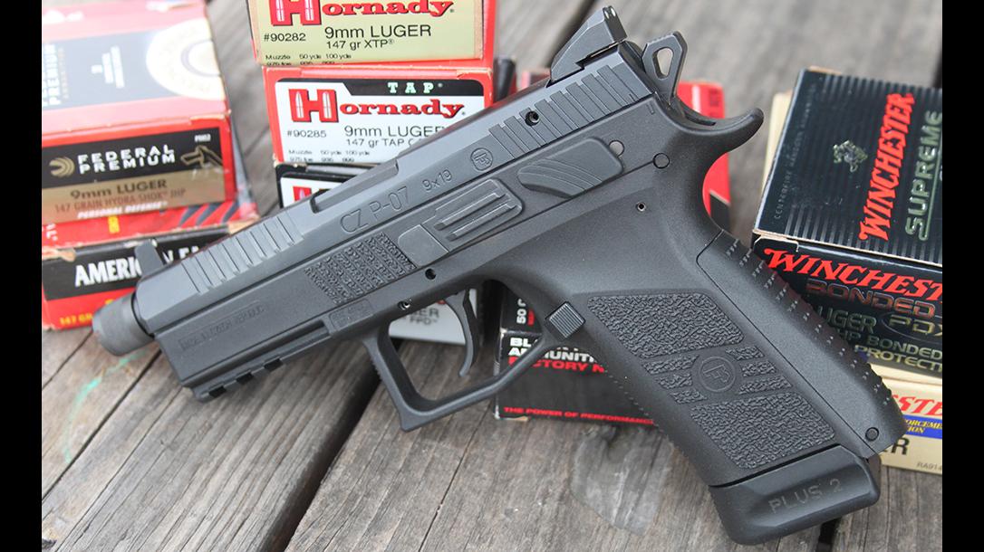 CZ P-07 Suppressor Ready pistol ammo