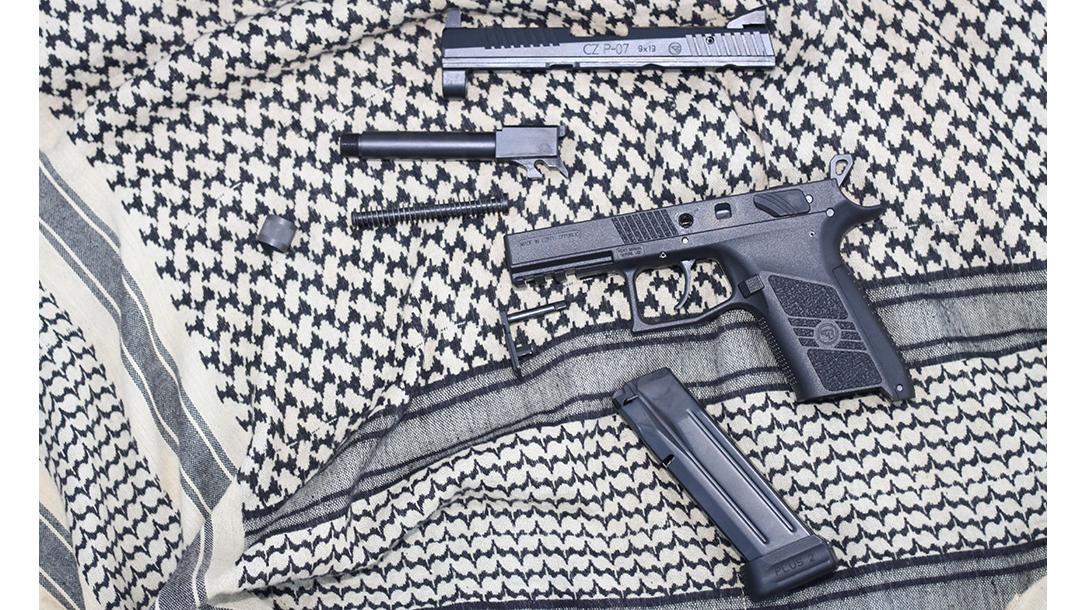 CZ P-07 Suppressor Ready pistol parts