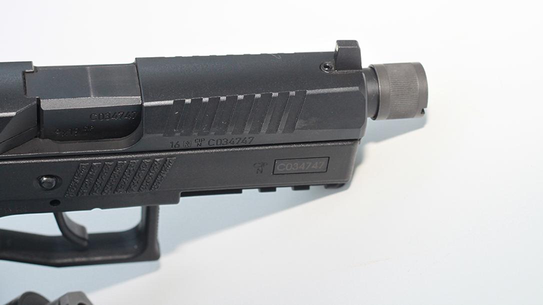 CZ P-07 Suppressor Ready pistol front
