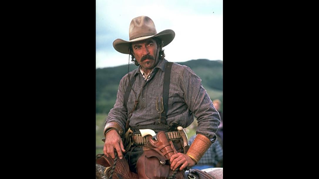 colt open top revolver tom selleck western