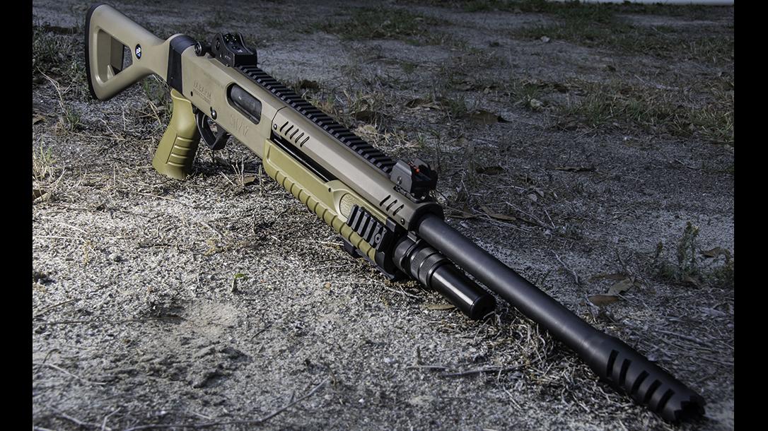 Fabarm STF 12 shotgun front angle