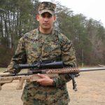 marines mk13 mod 7 rifle holding