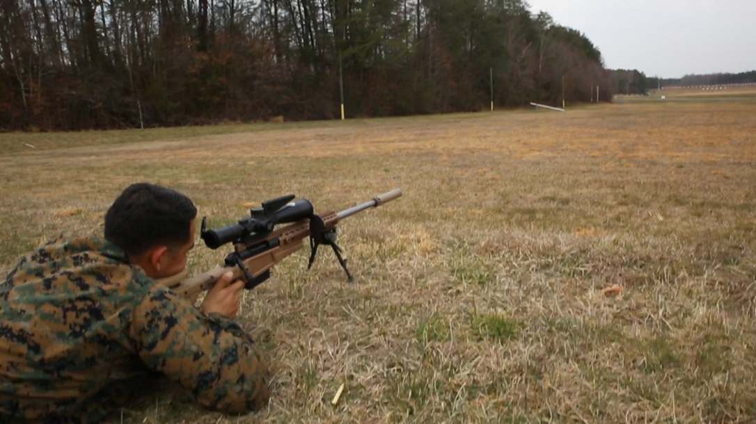 marines mk13 mod 7 rifle shooting