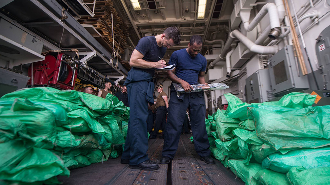 ak-47, ak-47 rifles, us navy vessel, jason dunham destroyer, jason dunham crew