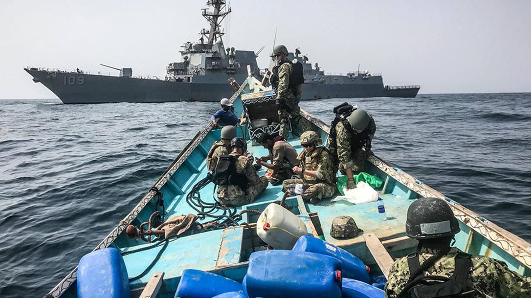 ak-47, ak-47 rifles, us navy vessel, jason dunham destroyer, us navy dunham ship inspection