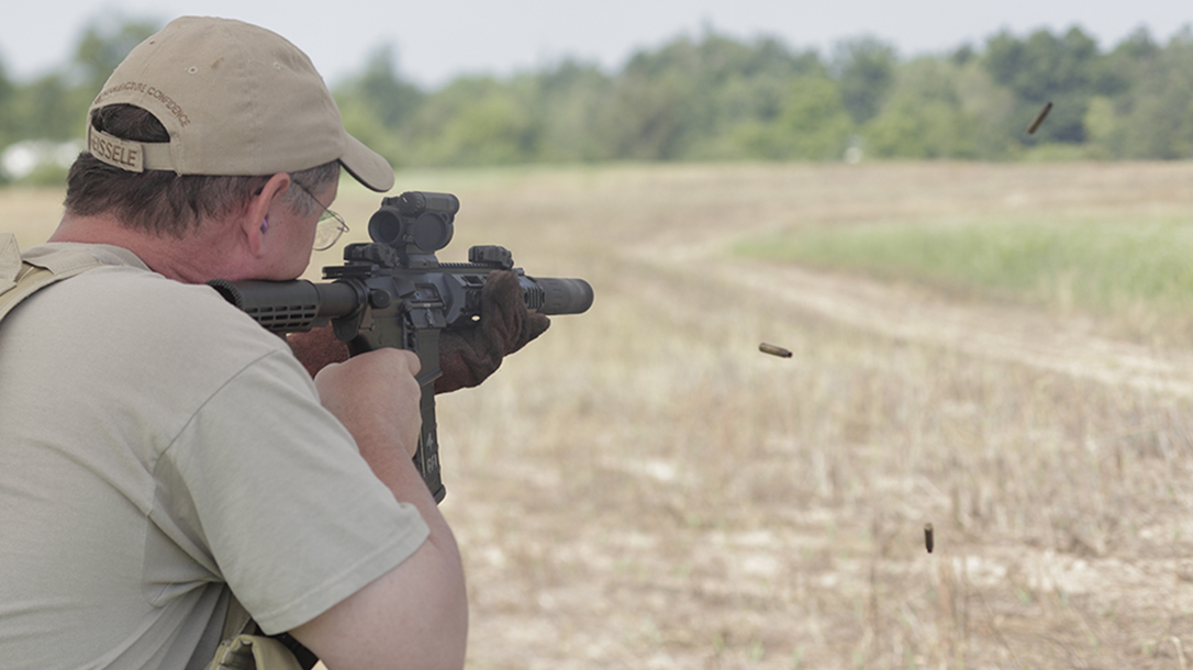 Remington R5 RGP rifle firing