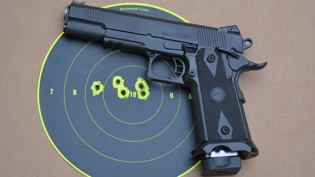 STI, STI pistol, STI Marauder, STI Marauder pistol, STI Marauder target