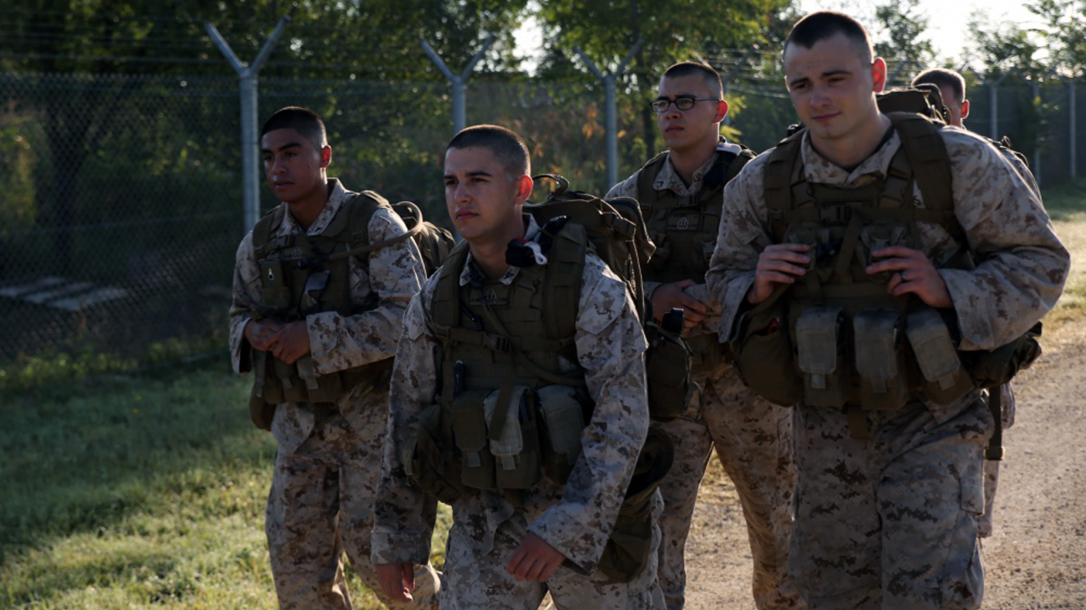 Lightweight Hard Armor Plate, marines, hiking
