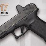 glock 17, glock 17 gen5, gen5 mos, Glock 17 gen5 mos pistol left profile
