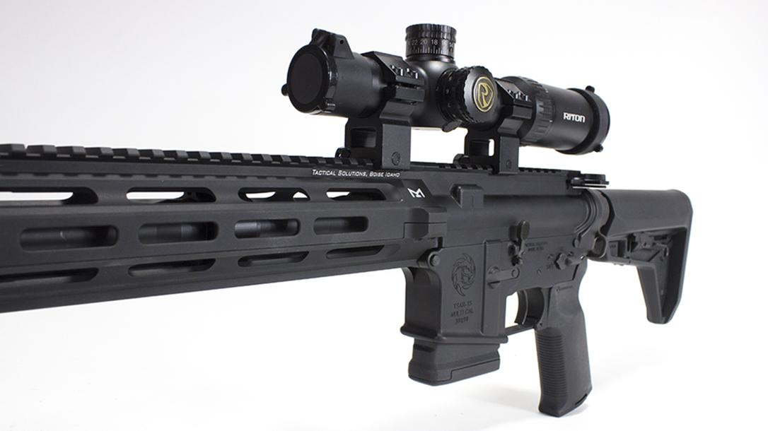 tactical solutions, tactical solutions TSAR-300 rifle, TSAR-300, TSAR-300 rifle, tactical solutions TSAR-300 rifle front angle