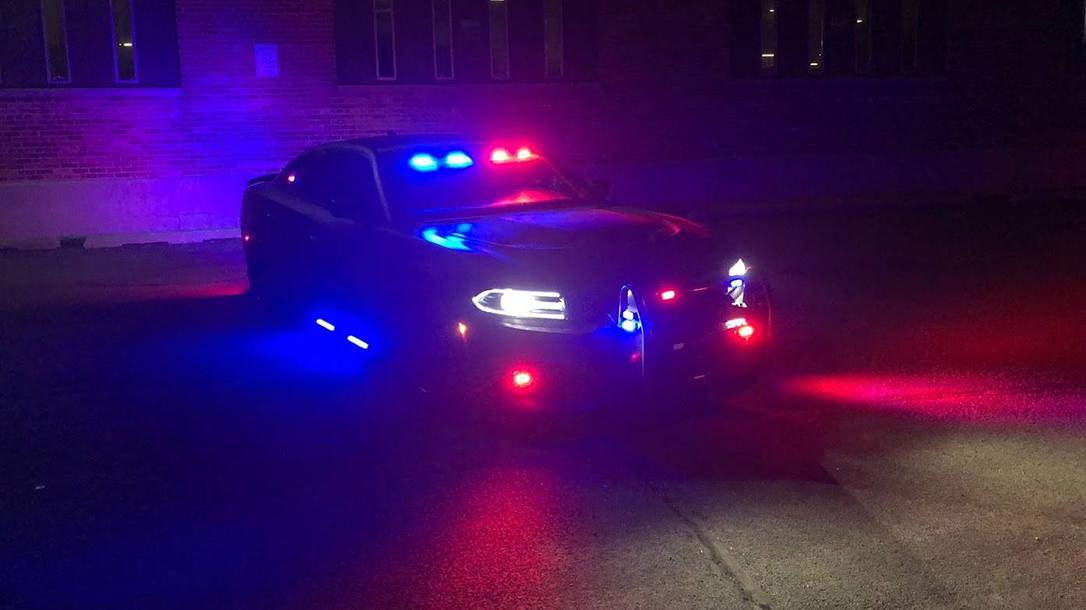 Armormax Bulletproof Dodge Charger Hellcat Police Car night
