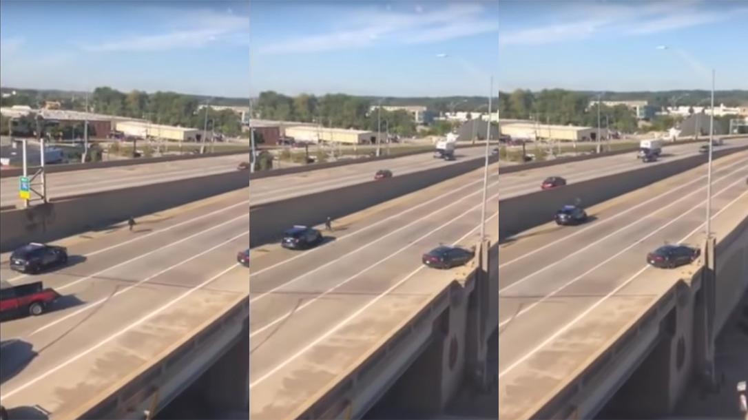 Grand Rapids Police Officer, Murder Suspect, Police Cruiser