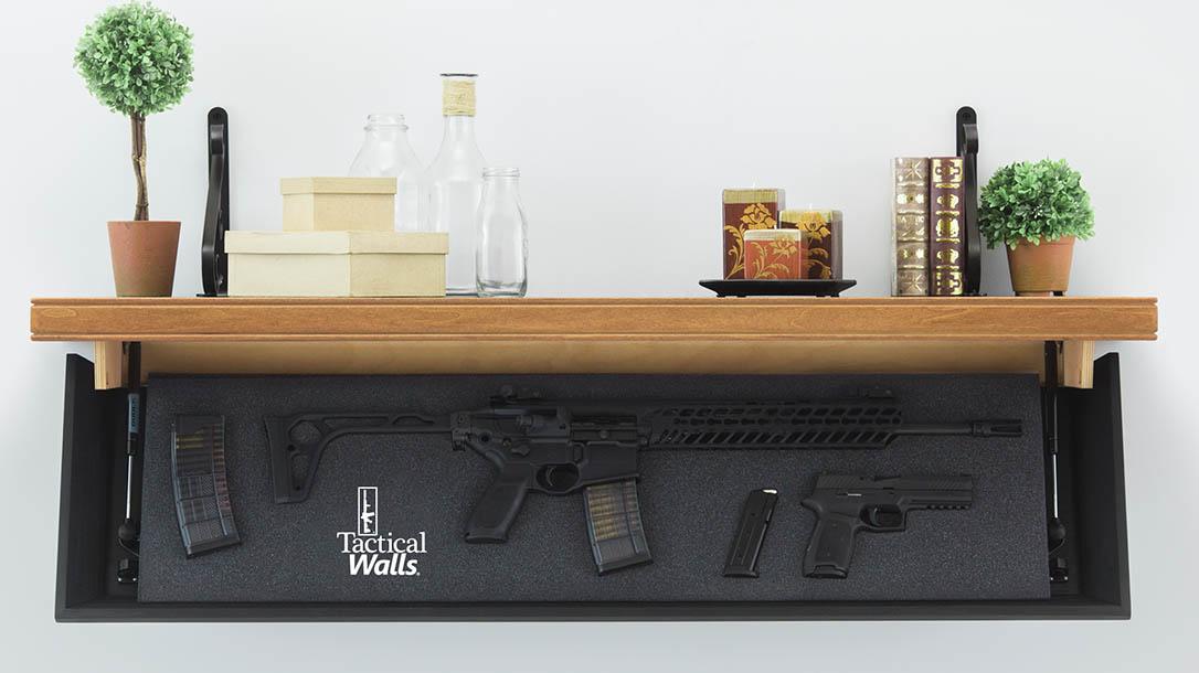 home defense, home defense gun, home defense guns, home defense safe, gun safe, gun safes, Tactical Walls 1242 Rifle-Length Shelf