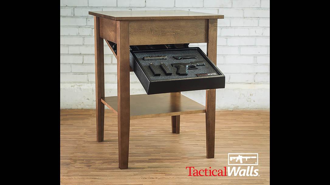 home defense, home defense gun, home defense guns, home defense safe, gun safe, gun safes, Tactical Walls Concealment End Table