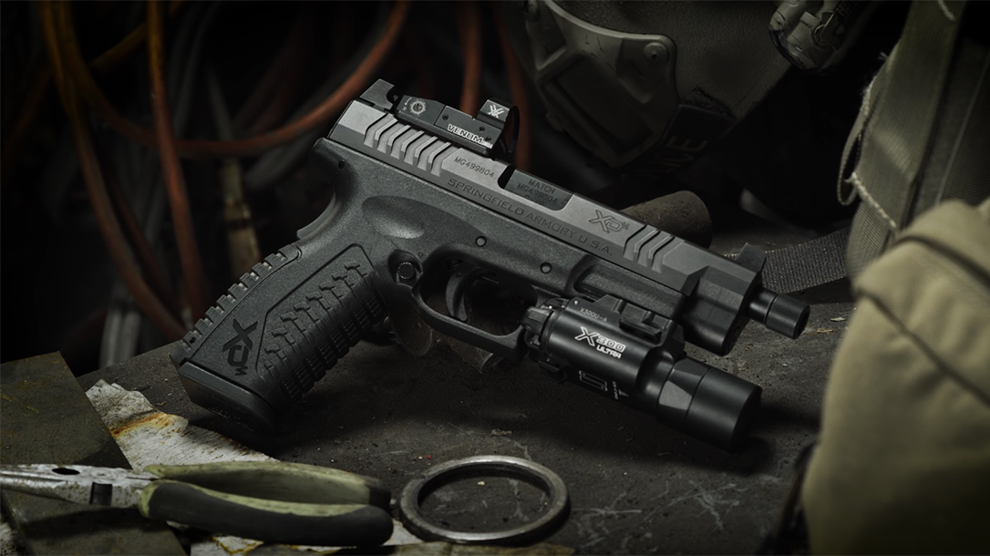 Springfield XDM OSP Threaded 9mm Pistol, handgun