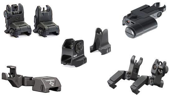 Quick-Deploy Backup Iron Sights, AR Rifle sights, rifle backup sights