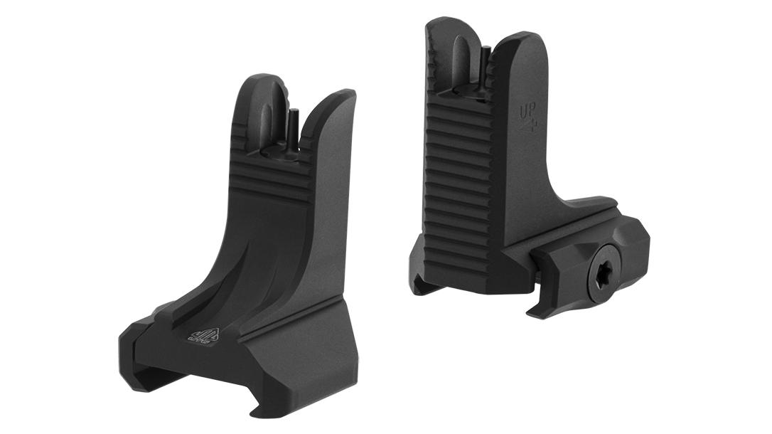 Backup Iron Sights, AR Rifle, UTG AR-15 Super Slim Fixed Sights
