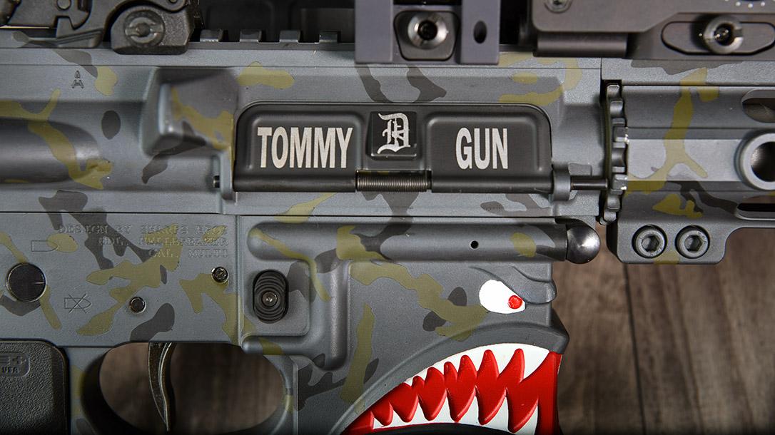 Custom AR-15 Build, Tommy Gun, dust cover up
