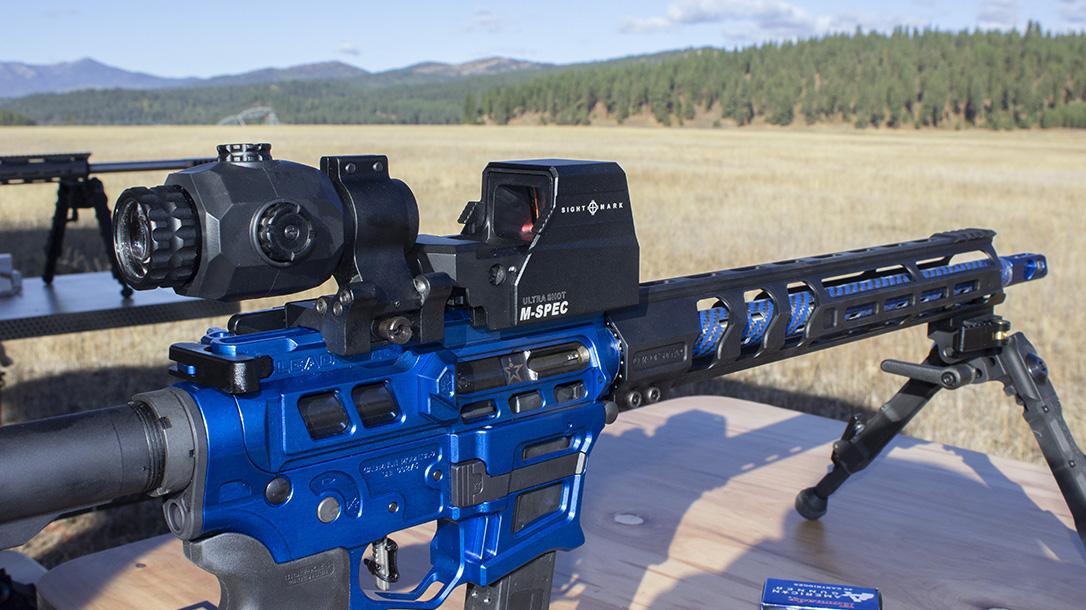 Sightmark Ultra Shot M-Spec, reflex sight, rifle, range
