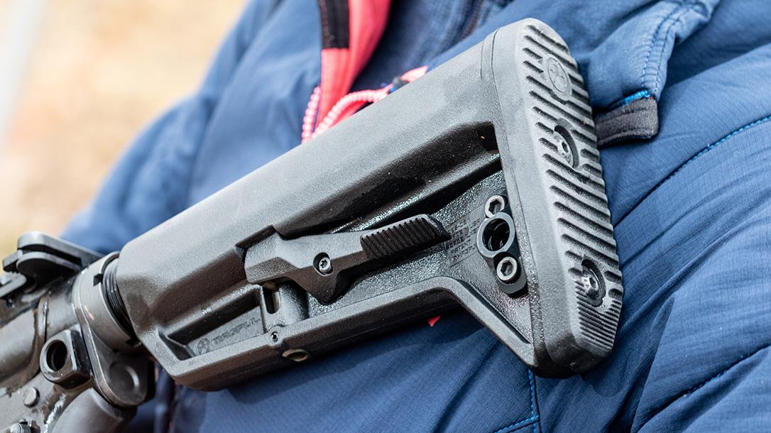 SIG AR platform rifle, stock, range