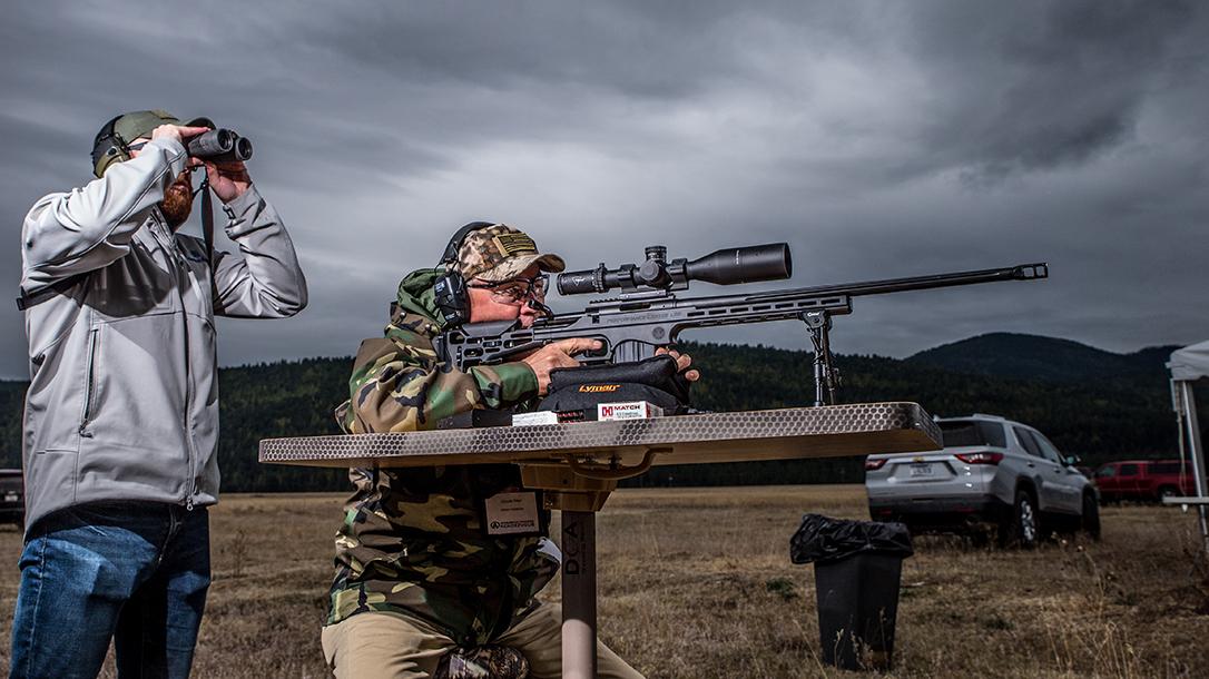 Performance Center T/C LRR precision rifle, 6.5 creedmoor rifle, spotter