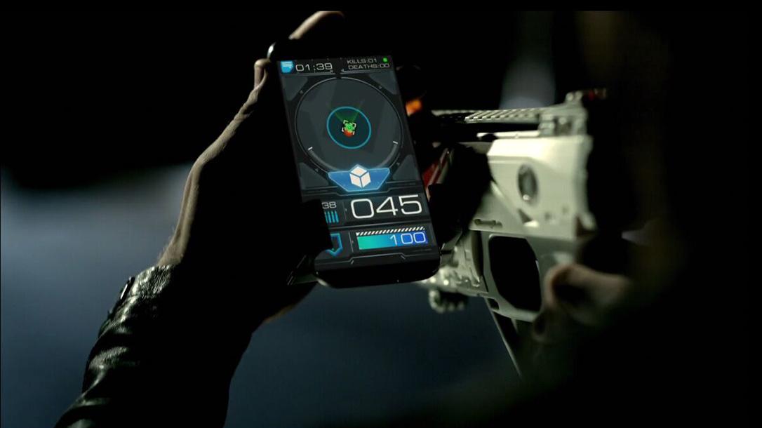 Skyrocket Recoil laser tag, smart phone