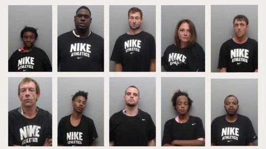 Arkansas Sheriff, Inmate Mugshots, Nike Shirts