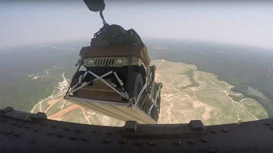 Army Humvee drop, North Carolina house, C-17 Globemaster III
