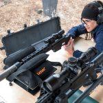Remington Model 700CP Long-Range Pistol aiming