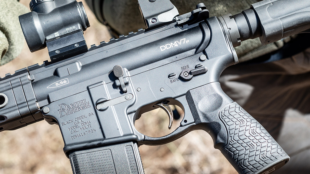 Daniel Defense DDM4V7 Rifle lineup, DDM4V7P, logo