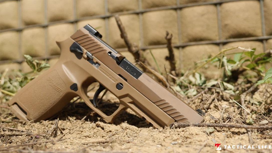 SIG P320 M17 pistol, air pistol variant, profile