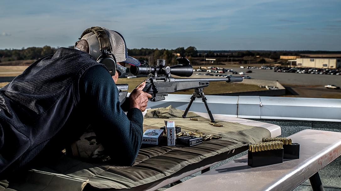 Daniel Defense Delta 5 bolt-action rifle shooting