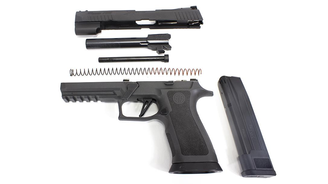 The SIG P320 X5 Legion Pistol apart