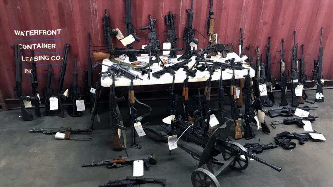 U.S. Customs Agent ran guns, found with more than 40 machine guns.