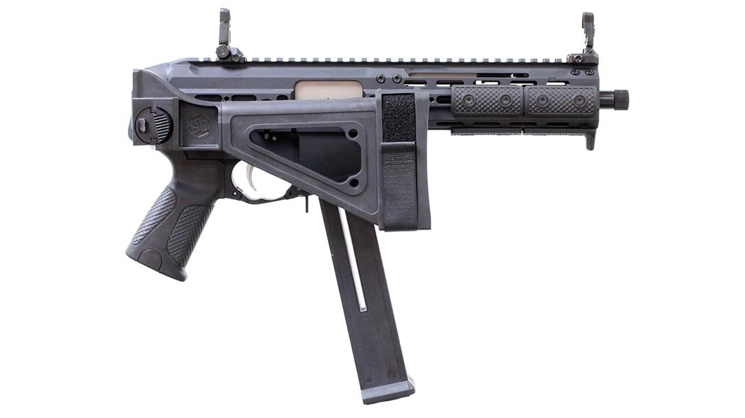 Sub machine gun, LWRCI, Folded
