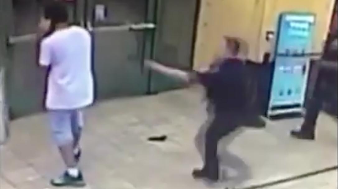 Felon Drops Gun, Dunkin Donuts, Coney Island