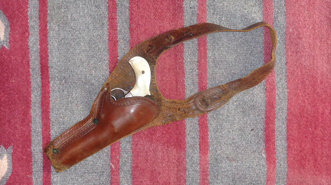 Old West Guns were worn in early shoulder rigs.