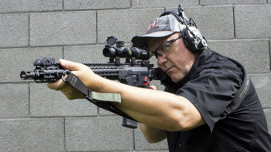 Firing the BFSIII Franklin Armory Binary Trigger System proved controllable and fun.
