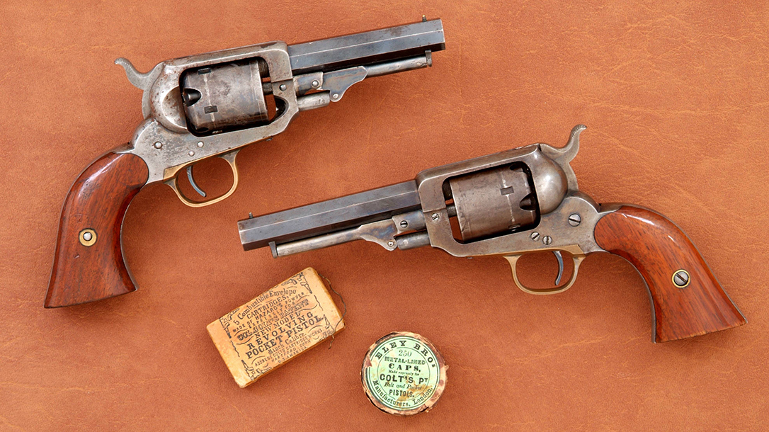 Variations of Whitney Pocket Model revolvers in .31 caliber.