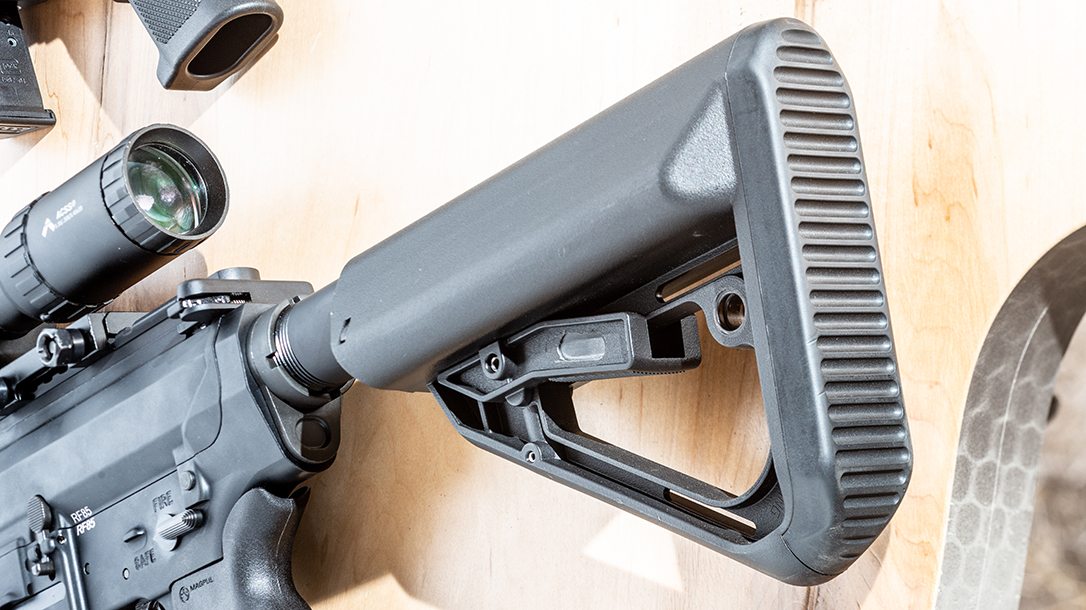The Anderson AM-10 Hunter features a Molding Solutions T-17 buttstock.
