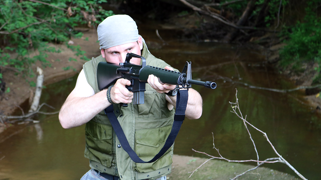 Shooting the Ghost Gun built at home with 80-percent lower.