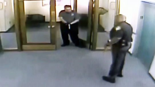 An IRS Guard pulled his gun on a Sheriff's Deputy.