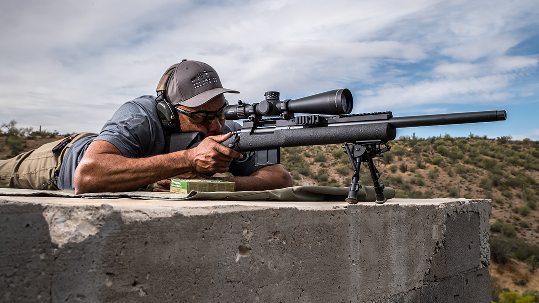 Shooting the Remington Defense M24A2 at extended range.