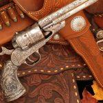 This Colt 1860 Army shows a Civil-War battle scene.