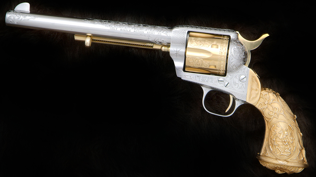 This second-generation Colt featured Tiffany-style grips.