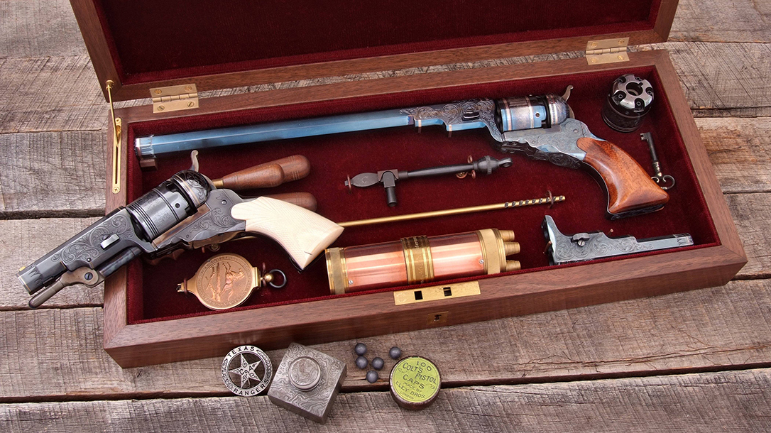 A commemorative issue, two-barrel cased set with the most accurate of accessories by America Remembers.
