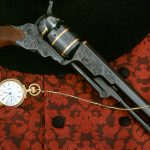 With gold-inlaid bands and Colt blued finish, this Colt Paterson sold for $4,500.
