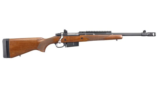 Ruger's Scout Rifle proved devastating on hogs in .450 Bushmaster.