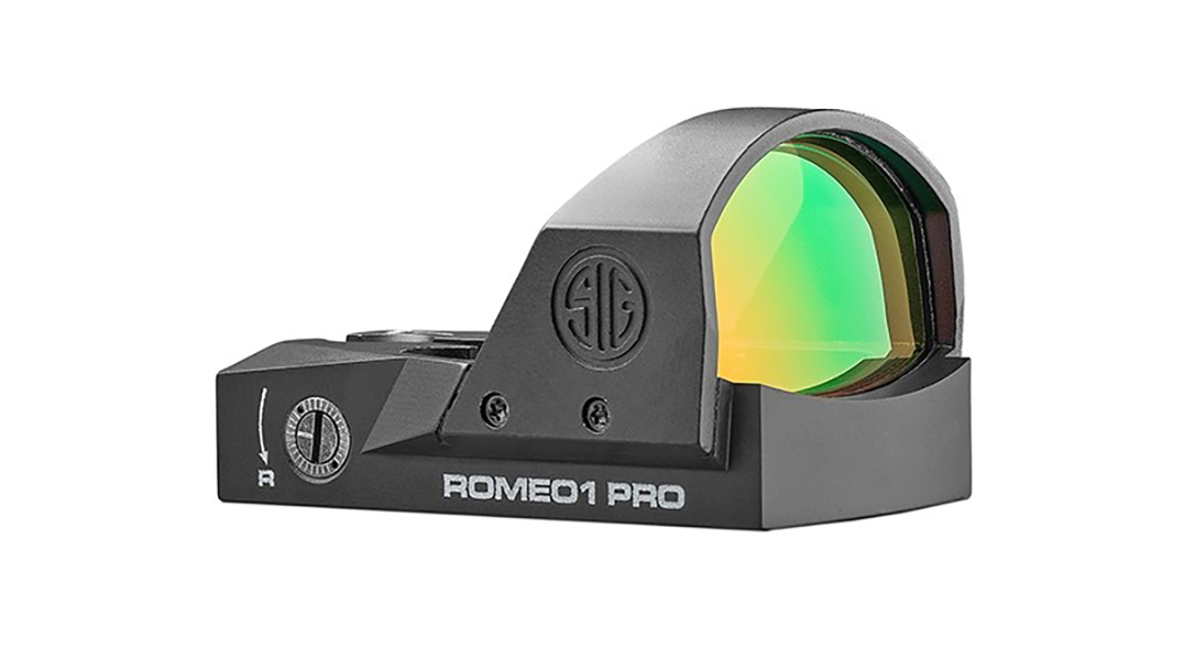 SIG Romeo1 Pro red dot, right-side view.